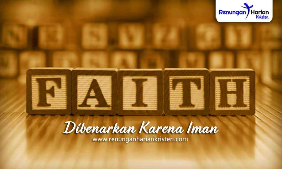 Renungan Harian - Dibenarkkan karena iman