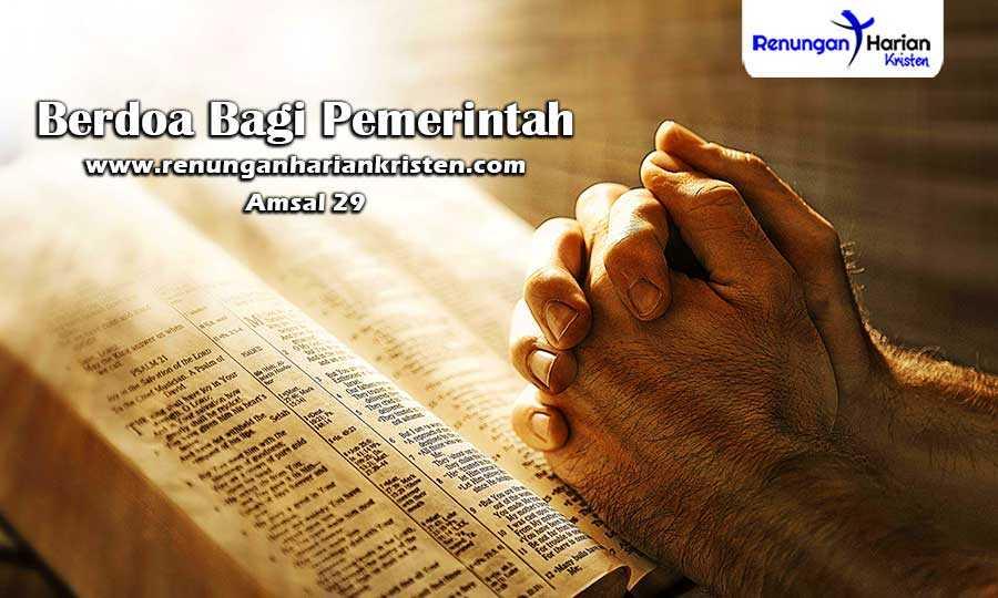 Renungan-Harian-Amsal-29-Berdoa-Bagi-Pemerintah